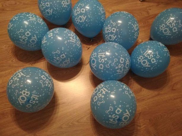 10 balonów, baby shower boy, chłopiec, it's a boy, okazja