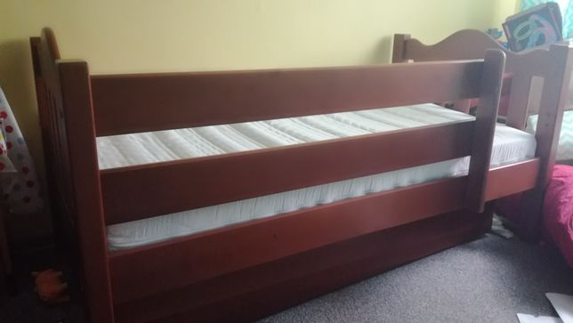 Łóżko dziecięce drewniane 80x160