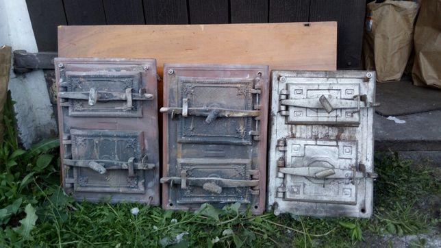 Żelwne drzwiczki ze starych pieców kaflowych