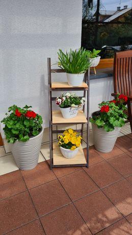 Stojak na kwiaty w donicach składany