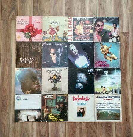 Płyty winylowe: Mireille Mathieu, Afric Simone, Jerry Lewis - kpl.