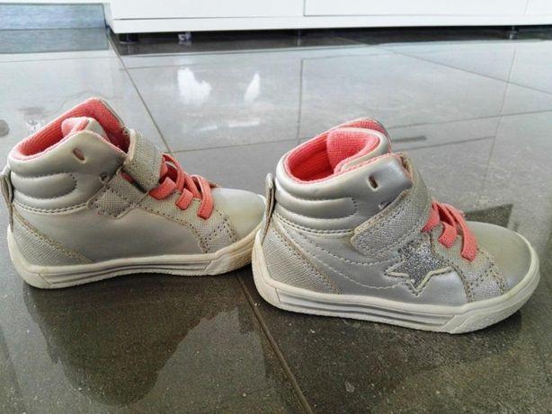 Półbuty sneakersy srebrne Zig Zag r.21. Stan Idealny!!!