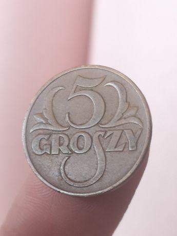 5 groszy 1938 stara moneta monety kolekcja Polska II RP