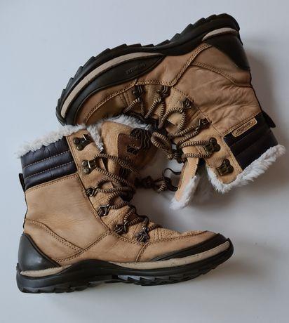 Cat Caterpillar rozm 38 damskie ocieplane trapery zimowe buty brązowe