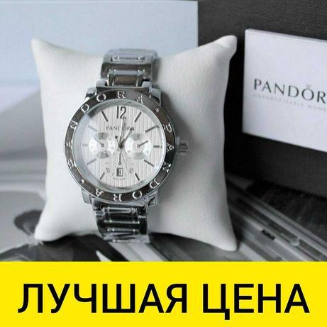 АКЦИЯ! Наручные ЧАСЫ PANDORA с коробочкой silver унисекс