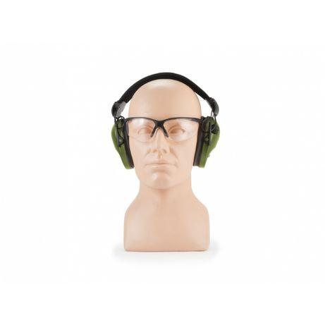Słuchawki RealHunter Active PRO oliwkowe + okulary