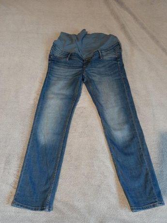 Ciążowe spodnie dżinsowe dżinsy ciążowe H&M rozmiar 38 długość 7/8
