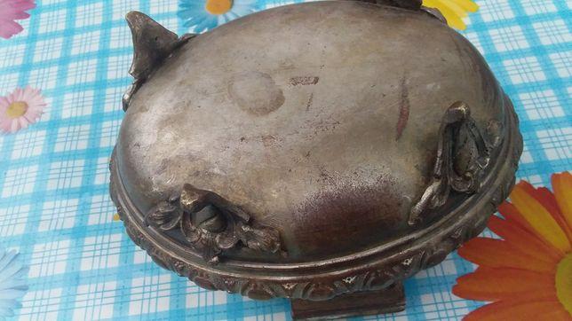сахарниця старовинна з остатками посріблення
