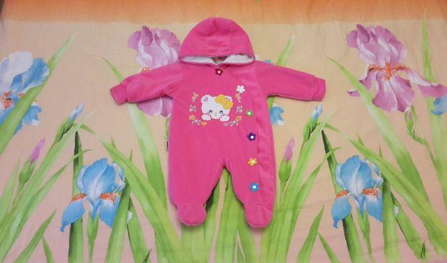Человечек-комбинезон утеплённый, одежда для новорождённых
