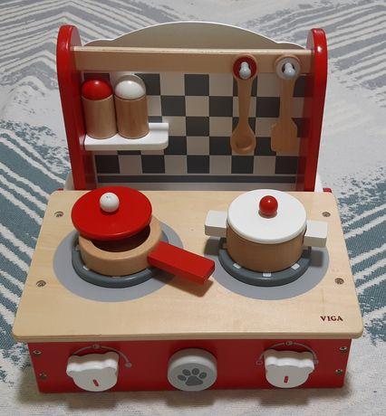 Мини-кухня Viga toys деревянная складная