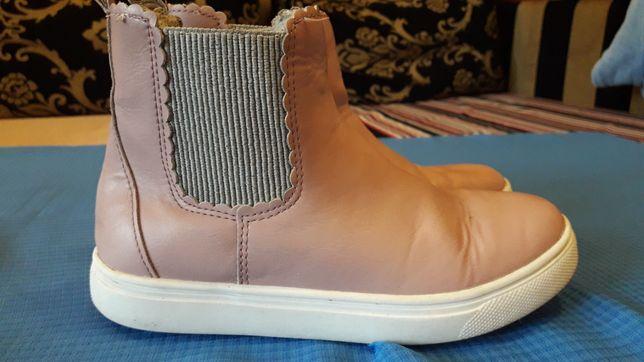 Розовые ботинки 32 размер