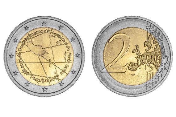 2€ Euros 600 Anos Descobrimento Madeira e Porto Santo UNC