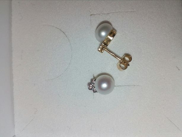 Kolczyki złoto 585, perły