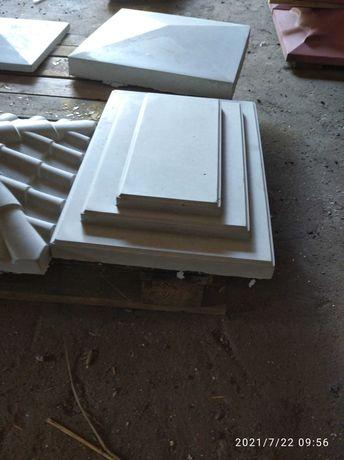 Колпак на столб 310*450  мм. серый