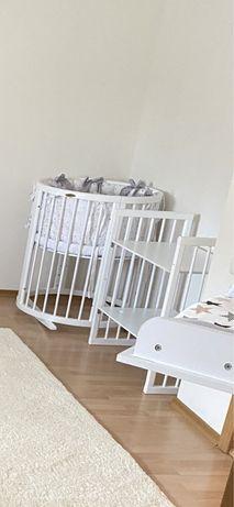 Ovalbed, овальная кроватка 8 в 1, кроватка трансформер