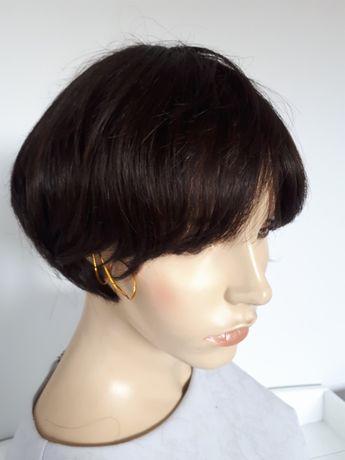 WYPRZEDAŻ-60% peruka naturalna hunan hair bob jasny brąz 100% human