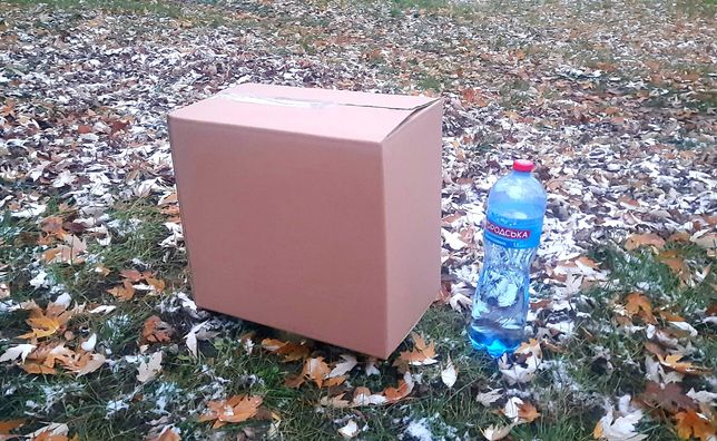 Коробки картонные. Большая картонная коробка. Новая коробка.