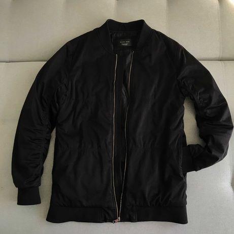 Бомбер Zara Man (куртка bershka чёрная осень-весна pull and bear &)