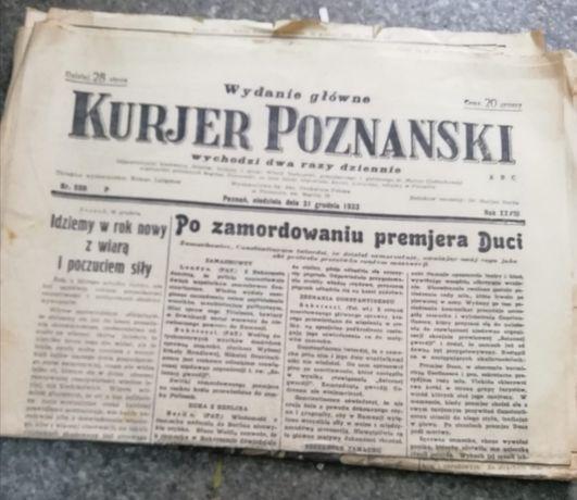 Zabytek Kurier Poznański 1933rok