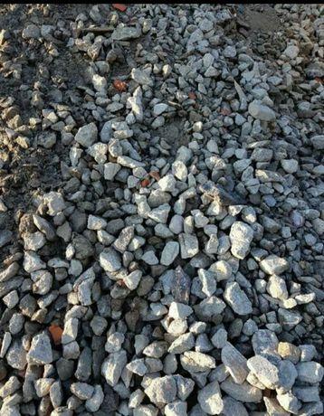 Kruszywo betonowe 0-63 mm, beton kruszony, dolomitowe kruszywo kamień