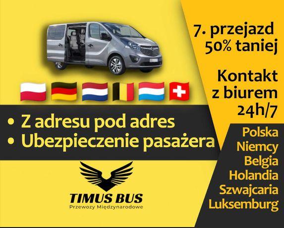 Busy Z ADRESU POD ADRES do Niemiec, Holandii, Szwajcarii, Belgii
