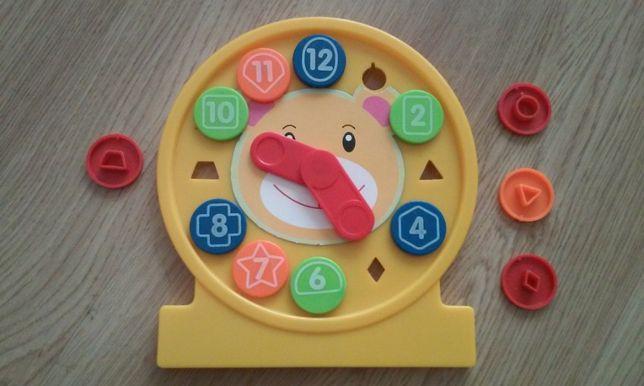 SOLIDNA układanka ZEGAR nauka godzin Puzzle 2-6 l zabawka edukacyjna