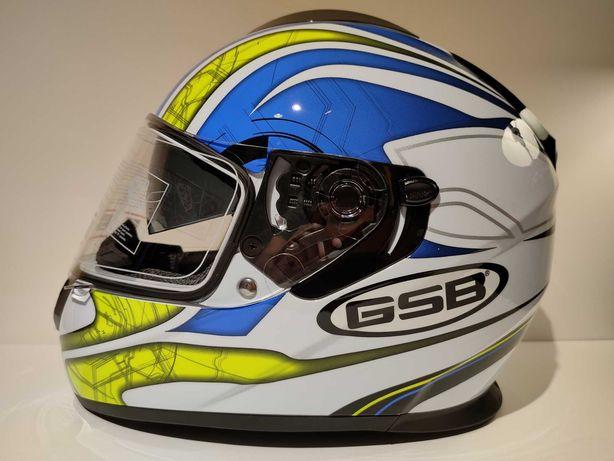 Capacete GSB S-350 dupla viseira integral scooter mota nova