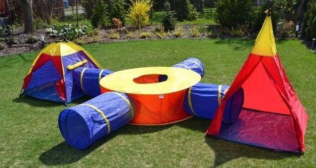 Большая игровая палатка для детей набор 7в1 палатки с 4 тоннелями из