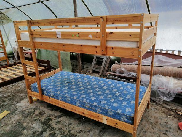 Łóżko piętrowe dla dzieci 90/200 materac z transportem