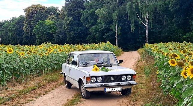 Auto samochód do ślubu fiat 125p oraz fiat 126p Napis LOVE