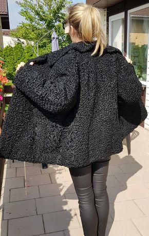 naturalne czarne futro z karakuł karakuły