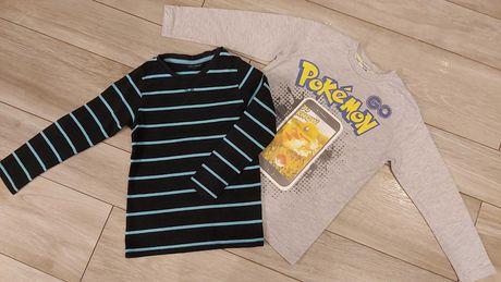 Bluzka tshert długi rękaw roz 128 pokemon