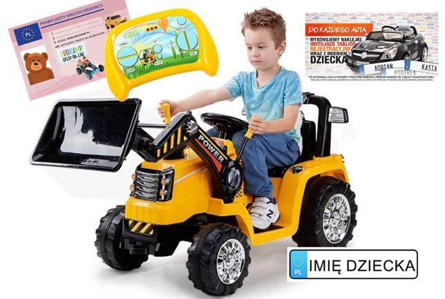 Traktor 1005 Koparka na akumulator 12V/7Ah POWER 2X45W PILOT HIT!