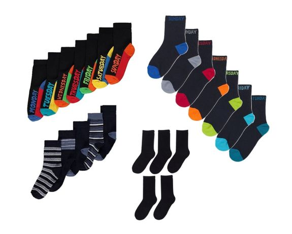Носки H&M George черные, синие, полосатые, яркие