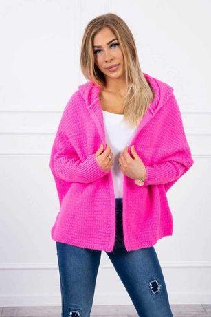 Sweter damski nietoperz z kapturem M, L, XL