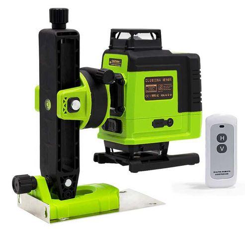 Обновленная Clubiona IE16R 4D Лазерный уровень рівень с ПУЛЬТОМ Green