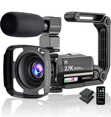Kamera Wideo 4K UHD Dotykowy Ekran Profesjonalna Mikrofon Gratis