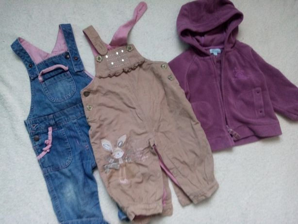 Zestaw dla dziewczynki 80 cm spodnie bluza