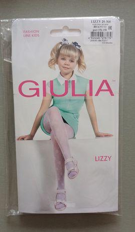 Колготки на девочку Giulia 20 Den Белые. Новые 152-158 размер