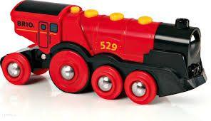 Czerwona lokomotywa elektryczna BRIO WORLD