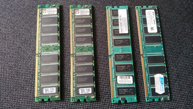 Pamięci RAM DDR 400MHz Kingston, Nanya
