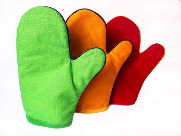 Rękawice sensoryczne do masażu, pomoce SI, integracja sensoryczna