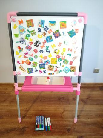 Tablica magnetyczna i do kredy SMOBY pisaki magnesy dla dziecka