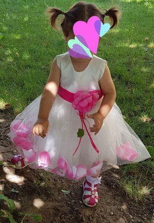 Sukienka dziewczynka 86-92 + dodatki