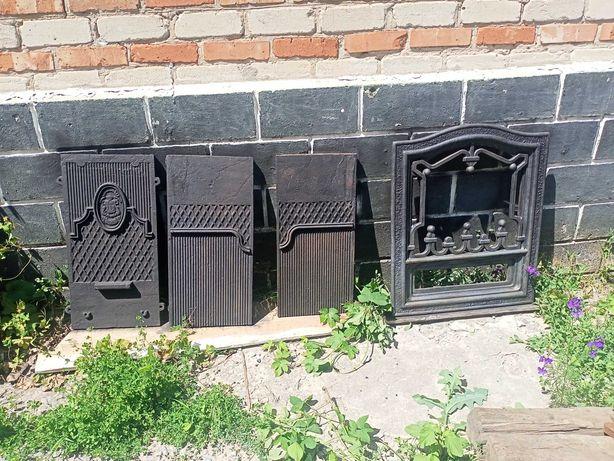 Камин чугунный с гербом города Луганска