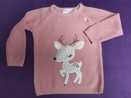 Różowy sweterek 86 sarenka