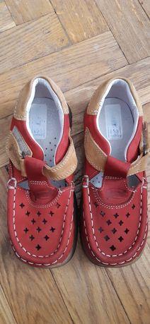 Jamet buty Nowe rozm.27 wkładka 17 cm skórzane sandały