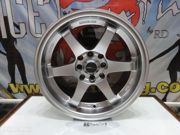ULTIMA UNIDADE Jante Original Japan Racing JR-3 15'' x 8'' 4x100/114.3 ET25 Hyper Silver