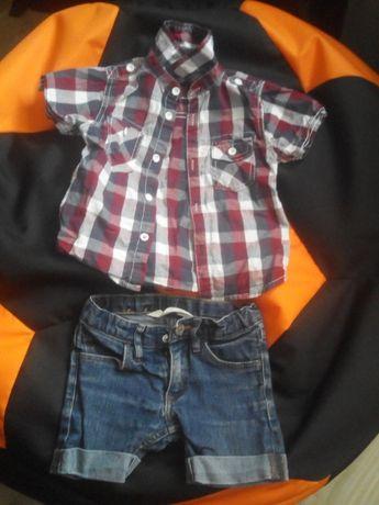 Продам рубашку в клетку на мальчика 2-3 года 92-98 размер