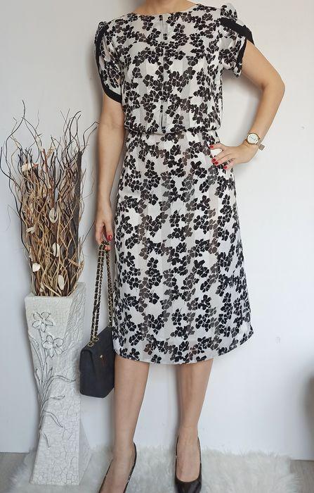Piękna elegancka satynowa sukienka 42 Oleśnica - image 1